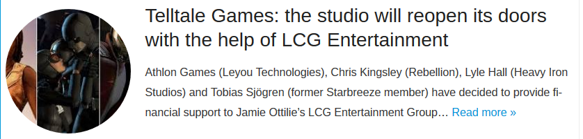 Telltale Games: the studio will reopen its doors with the help of LCG Entertainment