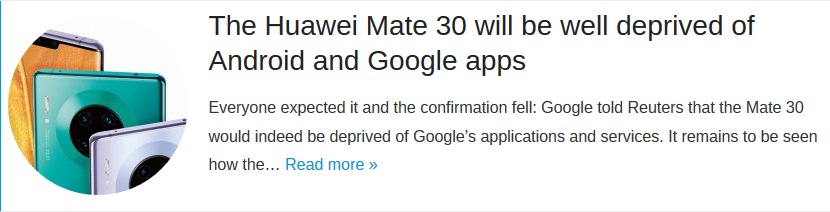 The Huawei Mate 30 will be well deprived of Android and Google apps